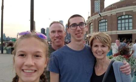 Alex kearns with his family